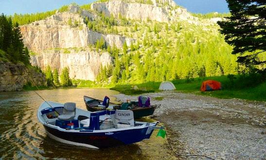 Enjoy Fly Fishing On 16' Drift Boat In West Glacier, Montana