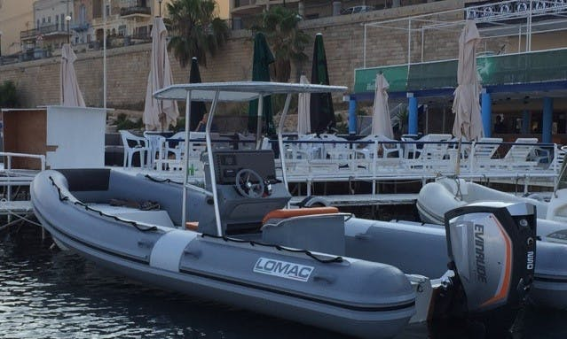 Charter 25' Lomac Rigid Inflatable Boat in Il-Kalkara, Malta