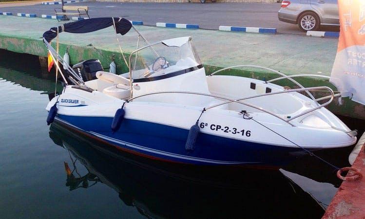 Located at Port Esportu - QUICKSILVER 555 Boat Rental