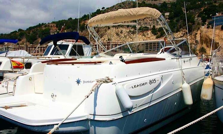Motor yacht on Jeanneau Leader Boat in Altea