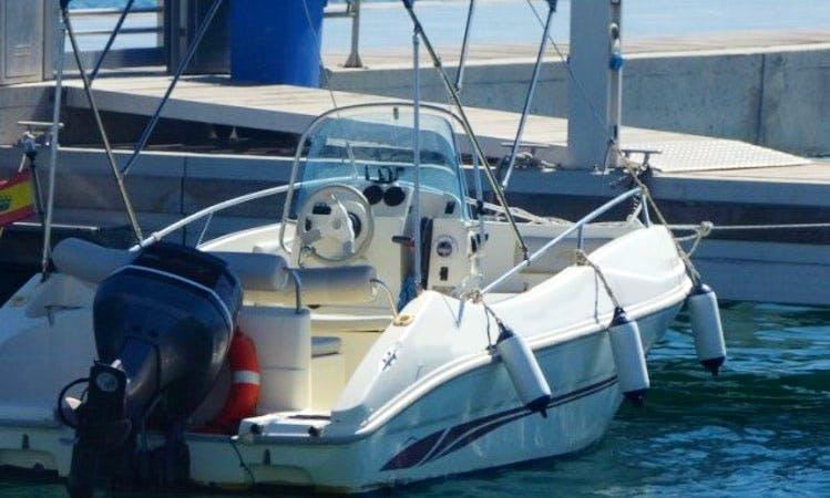 Rent the 20ft Astromar Open Power Boat in Garrucha, Andalucía