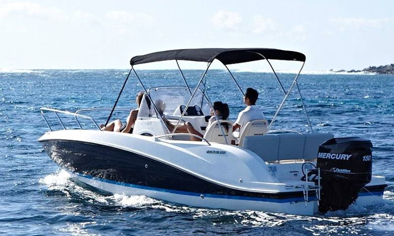 Rent this speedboat Q605 'Helios' 150hp for 7 people in Palma, Spain