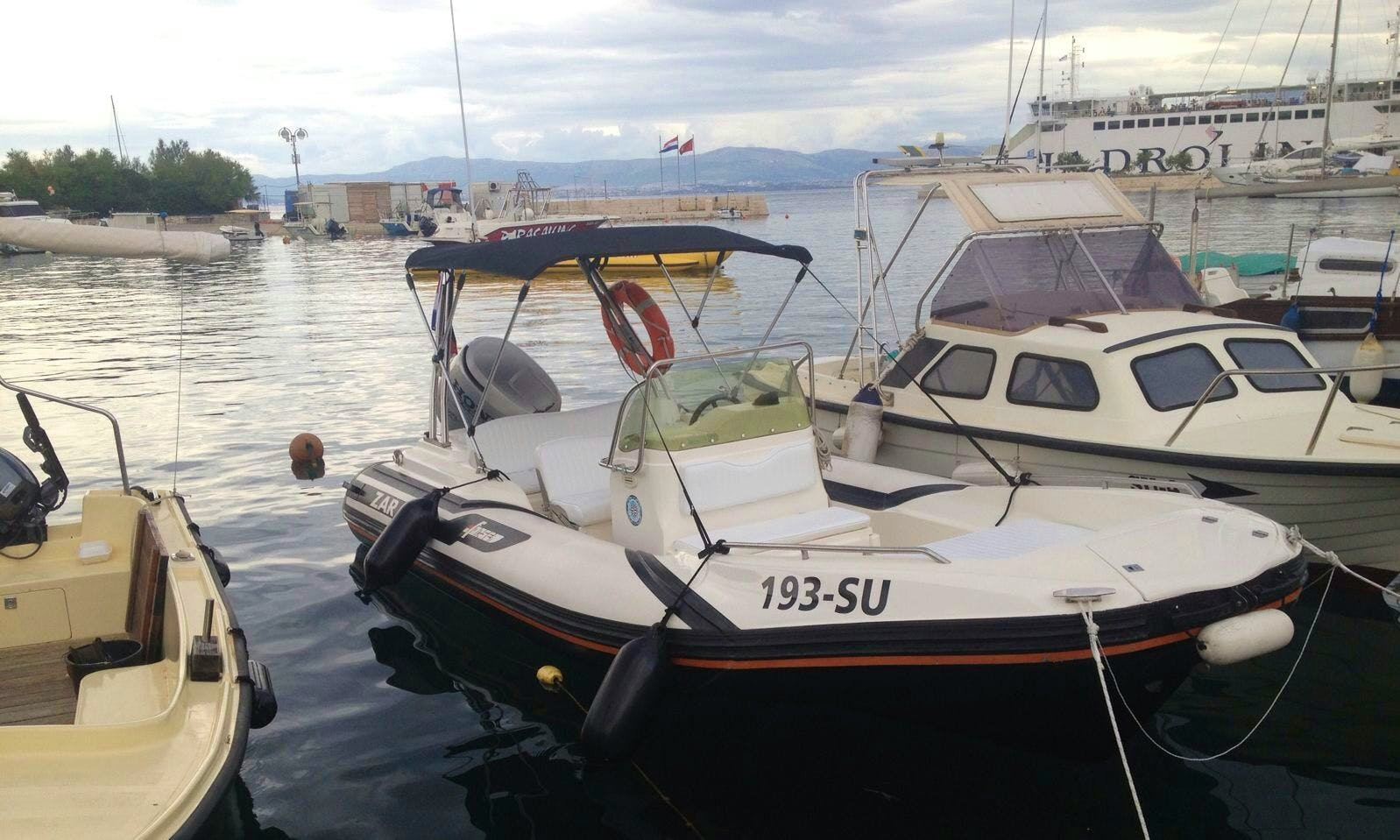 Cruise in Supetar, Croatia on a  Rigid Inflatable Boat Charter!