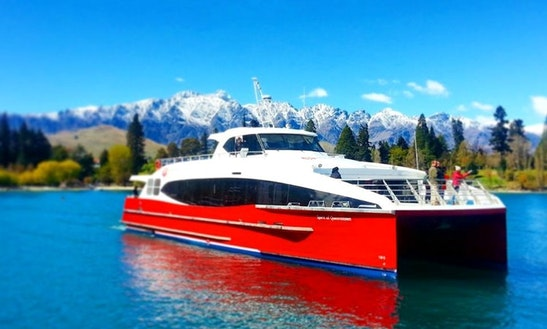 85' Power Catamaran Trips In Queenstown, New Zealand
