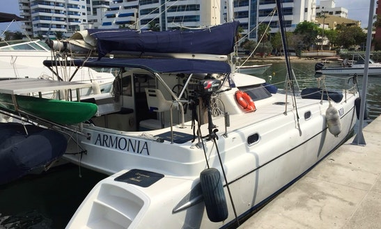 Charter The 35' Fountaine Pajot Tobago Cruising Catamaran In Cartagena, Colombia