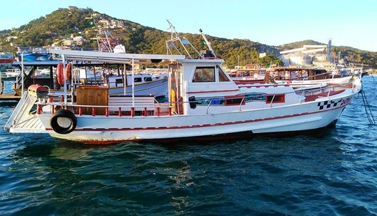Captained Power Boat For 40 People In Arraial Do Cabo, Brazil