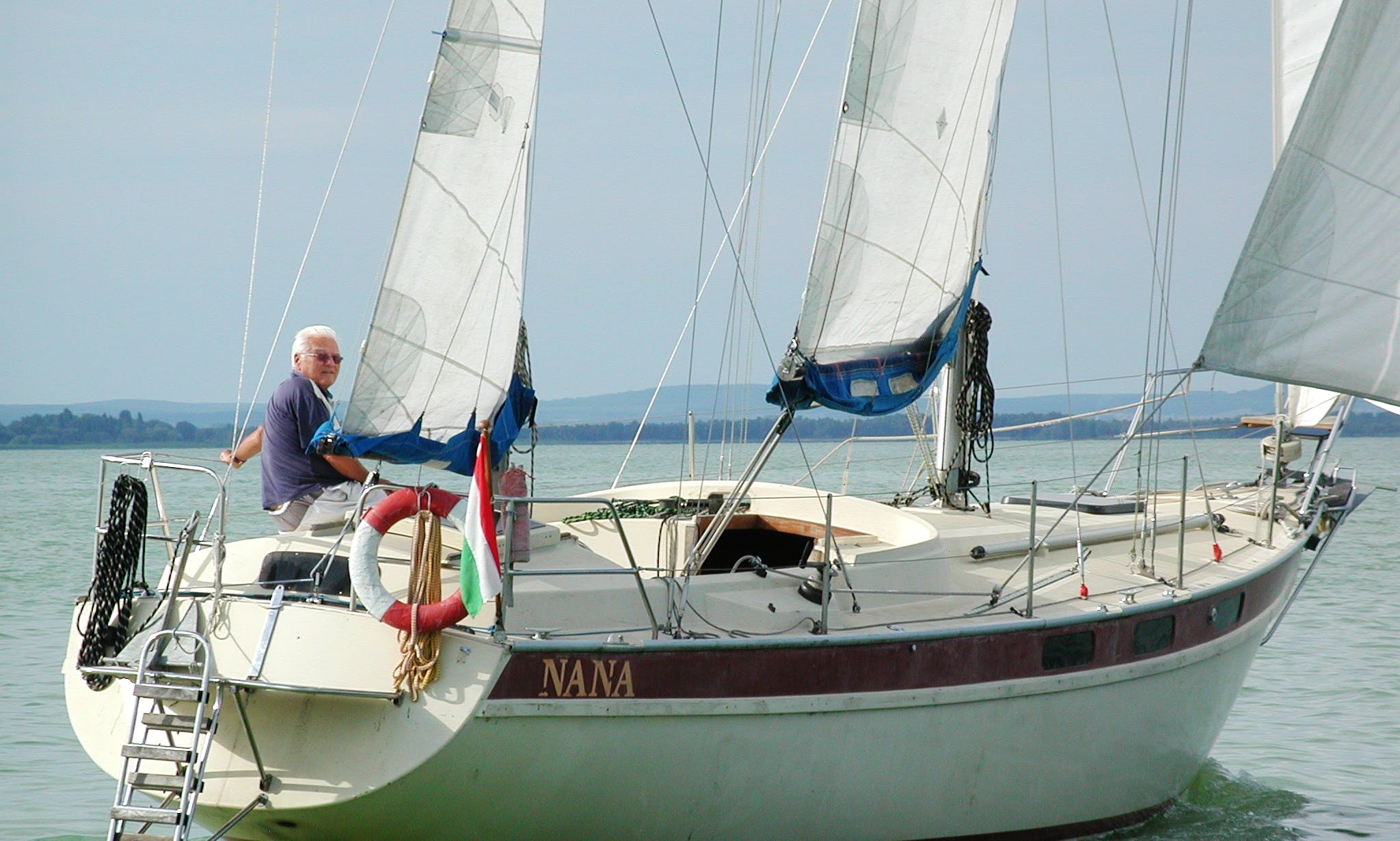 "Sailing Yacht Nana (36"") for rent at Lake Balaton"