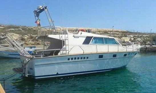 Relax And Enjoy The View Of Lampedusa, Italy On This Motor Yacht