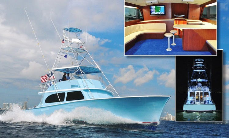 "Go Fishing in Miami, Florida on 58ft ""Therapy IV"" Fishing Boat"