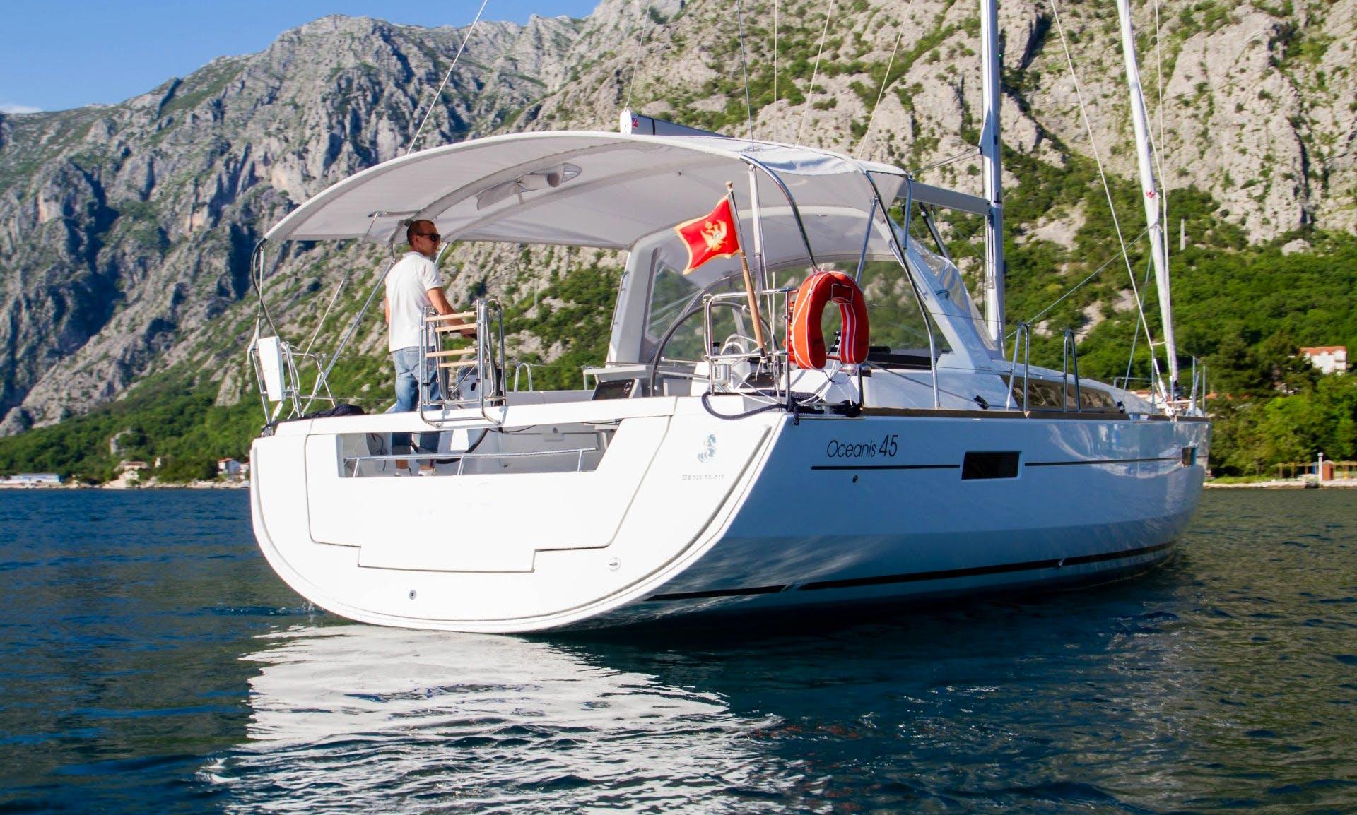 """Oceanis 45 """"Tango"""" Cruising Monohull Charter in Montenegro"""