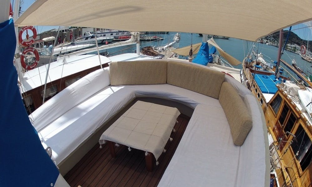 Sailing Charter On 56' Traditional Wooden Gulet In Bodrum, Turkey