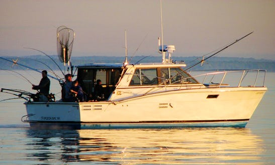 Fishing Charter On 36' Trojan Sedan Sportfishing Yacht In Sturgeon Bay, Wisconsin