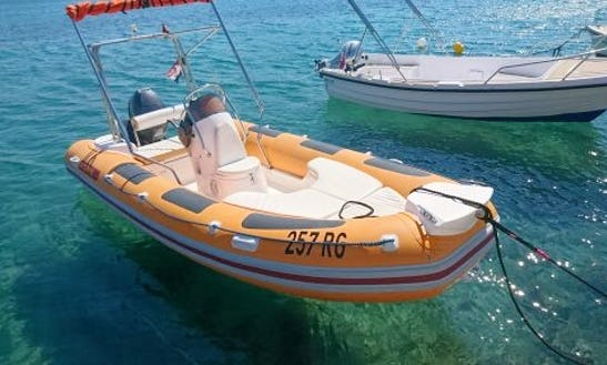 Rent 16' Maestral Rigid Inflatable Boat In Rogoznica, Croatia