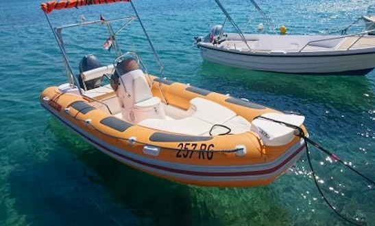 Rent 16' Maestral Rigid Inflatable Boat In Rogoznica, Croatia
