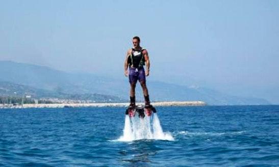 Enjoy Flyboarding In Giardini Naxos, Italy