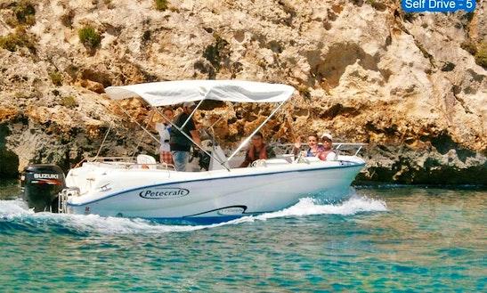 Explore Xlendi Bay Aboard A Petecraft Self-driven Speed Boat 5 For 7 Person