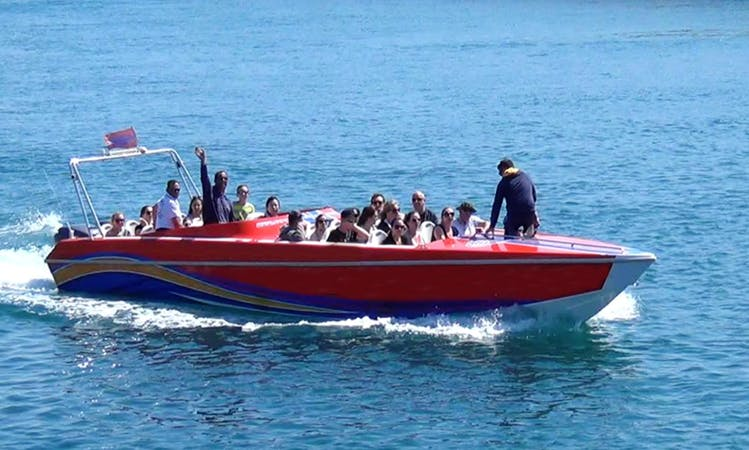 Jet Boat Tour In Tas-Sliema, Malta with stop for Snorkeling in the Crystal Lagoon!