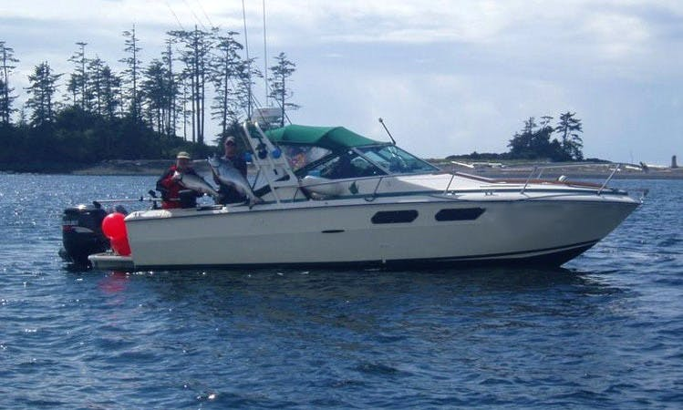 "Fishing Trip on 26ft ""No Doubt"" with Lodging Sea Ray in Zeballos, BC"