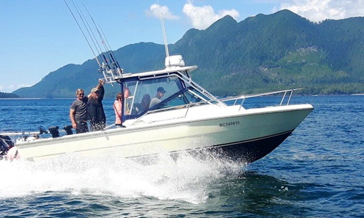 "Fishing Trip on 25ft ""Tyee One"" Fishing boat with Lodging in Zeballos"