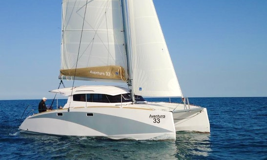 Charter The 33' Aventura Sailing Catamaran In Ajaccio, France