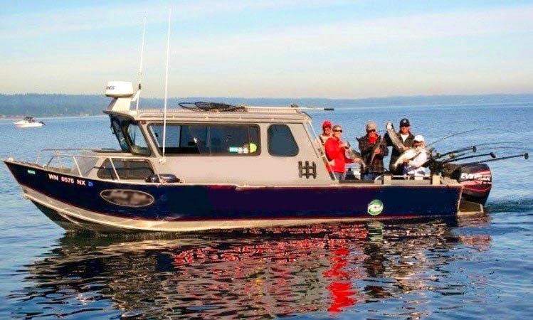 """""""All-Star"""" Cuddy Cabin Boat Fishing Charter in Everett, Washington"""
