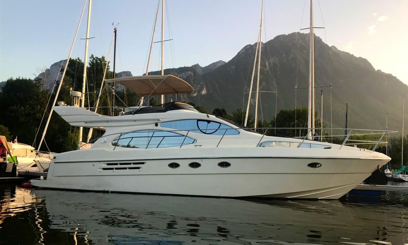 Charter 49' Azimut 46 Flybridge Evoluzione Motor Yacht in Geneva, Switzerland