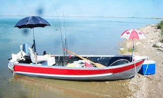 Jon Boat Guide Fishing Service in Nanton