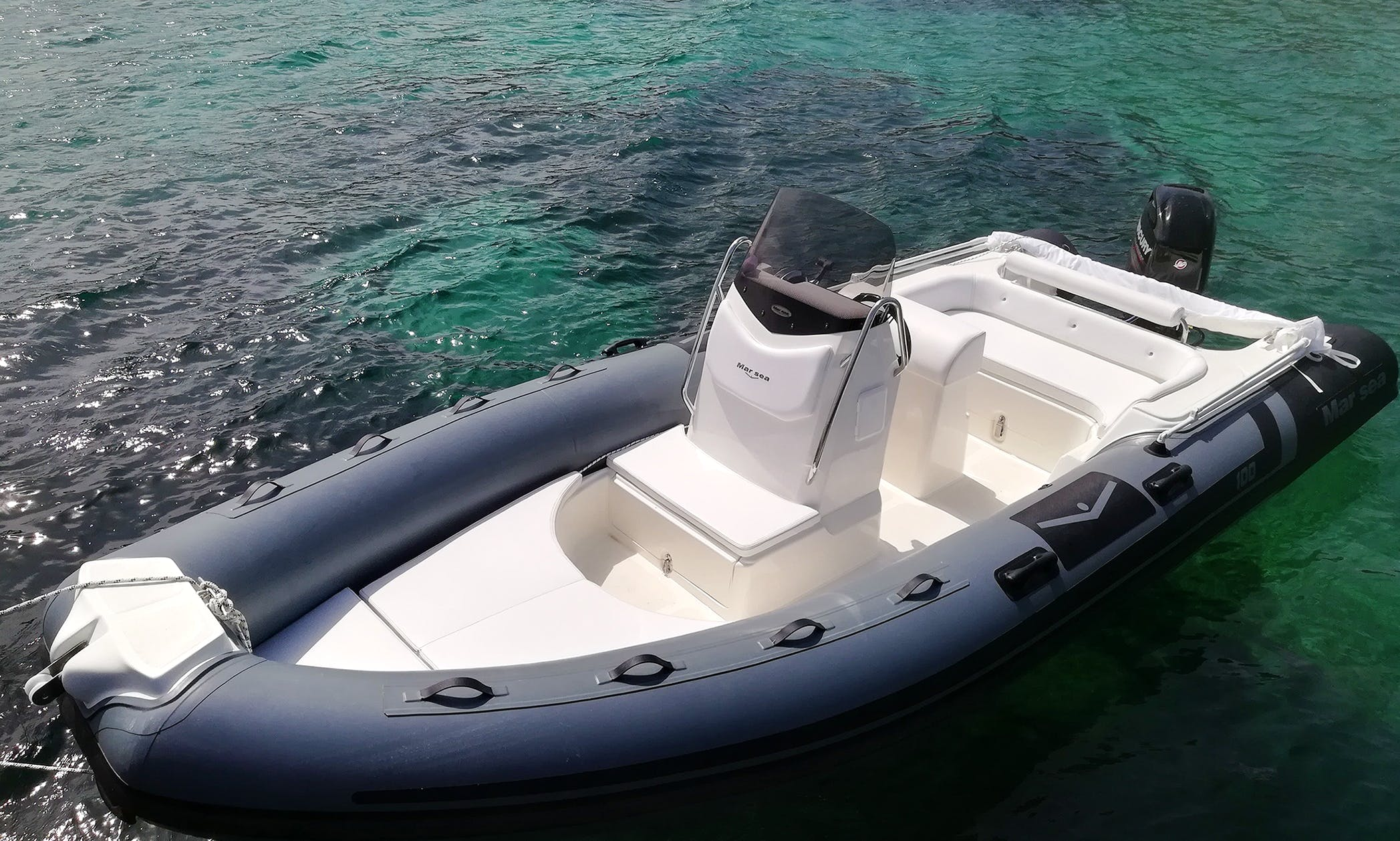 18' MarSea 100 RIB Rental In Cannigione, Italy