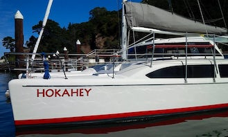Excellent yacht for the SF Bay!   Wind power/green clean fun! Stable Catamaran with large enclosed main salon with amazing views!  In Richmond, CA