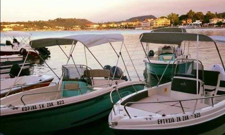 Motorboat rental for $180 per day