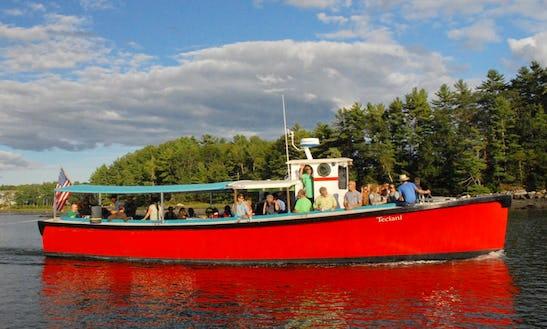 50ft Uniflite Canal Boat Charter In Damariscotta, Maine