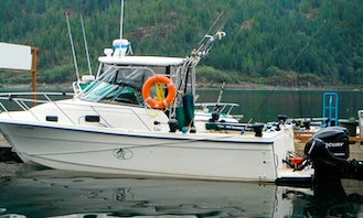 """Lodging and Fishing Trip on 28ft """"Obsession Too"""" Boat in British Columbia"""