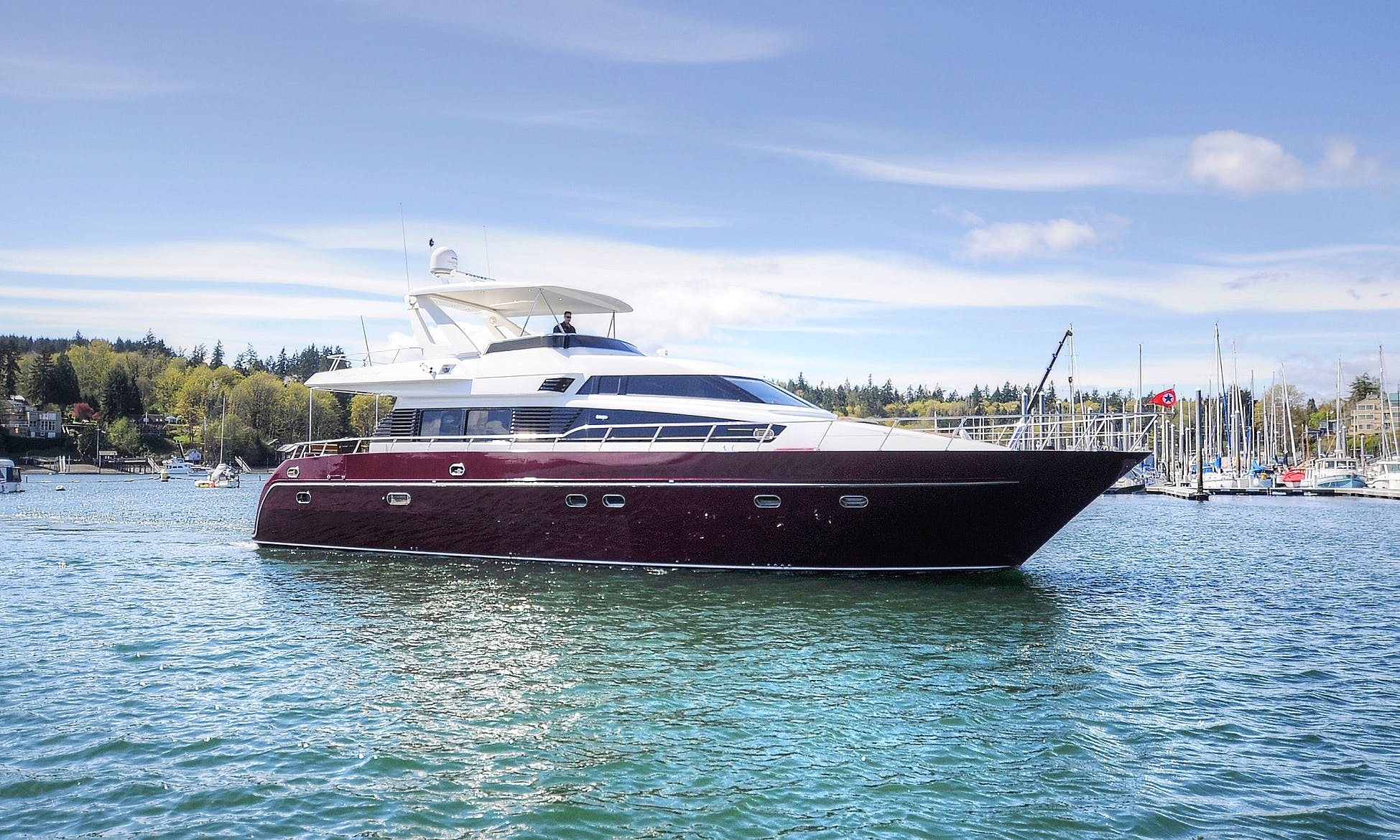 66' Monte Fino Luxury Italian Yacht in Seattle - Book now for Opening Day, 4th of July & Summer Cruising