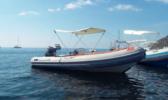 Charter 16' Gommorizzo Rigid Inflatable Boat in Stromboli (Eolie islands), Italy