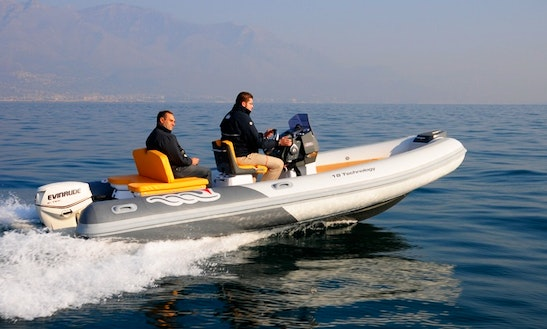 Rent 18' Mv Marine Rigid Inflatable Boat In Salerno, Italy