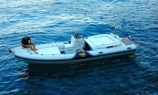 Rent 26' Mv Marine Rigid Inflatable Boat In Salerno, Italy