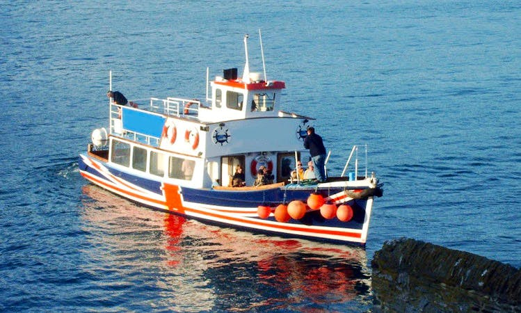 Charter Passenger Boat on Helford River in Falmouth, England