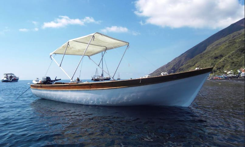 "Wooden Boat ""Principessa"" 19' in Stromboli (Eolie islands), Italy"