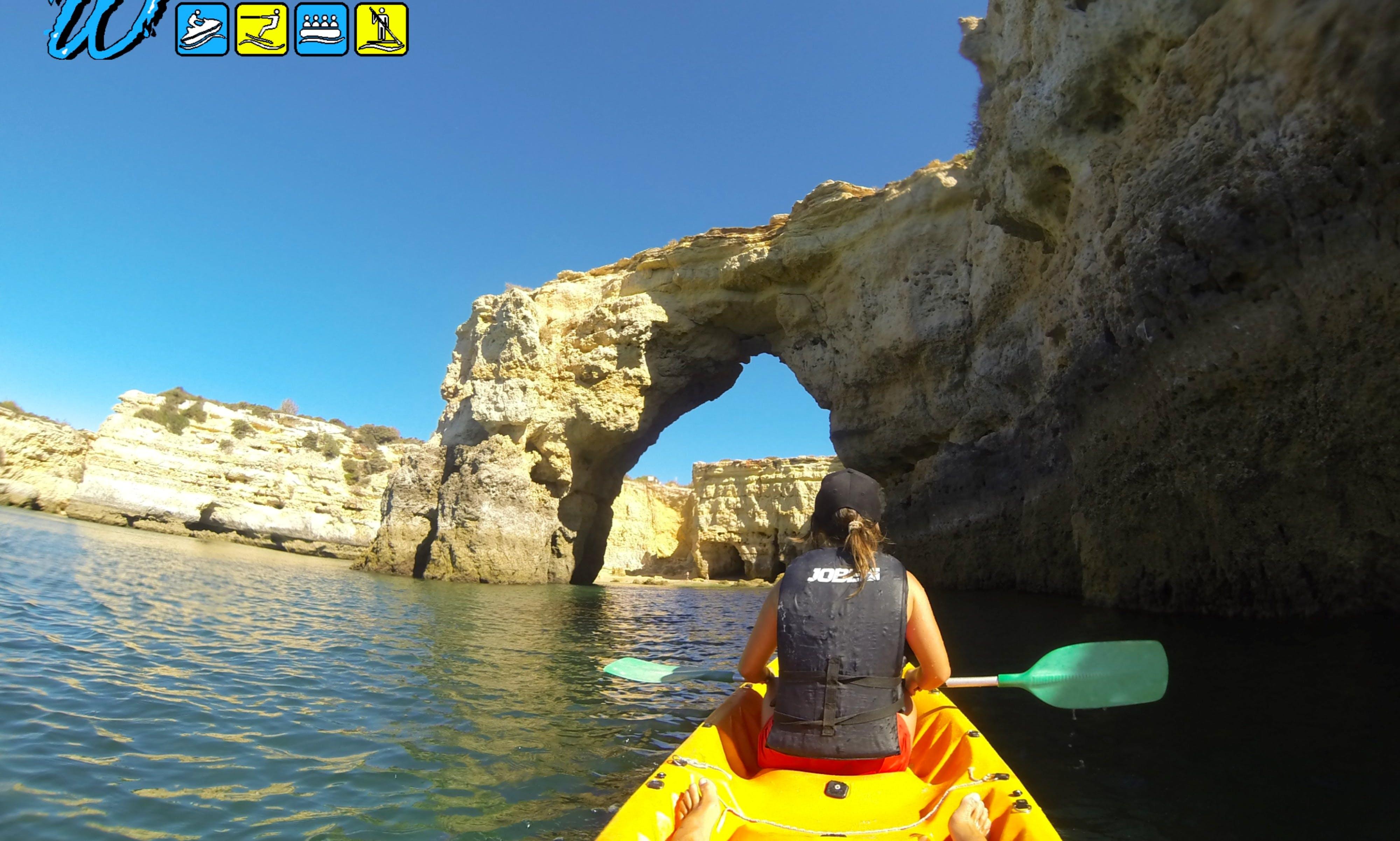 Explore Wild Caves & Beaches Kayaking Tour, Armação de Pêra, Algarve, Portugal