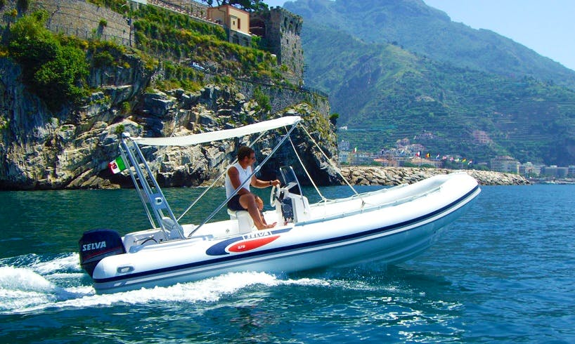 Charter 19' Selva Rigid Inflatable Boat in Tropea, Italy