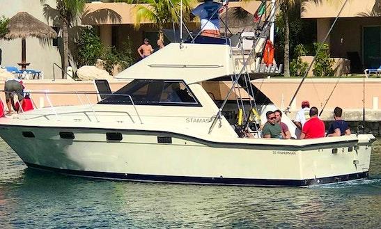 Enjoy Fishing On 32' Sport Fisherman In Playa Del Carmen Quintana Roo, Mexico