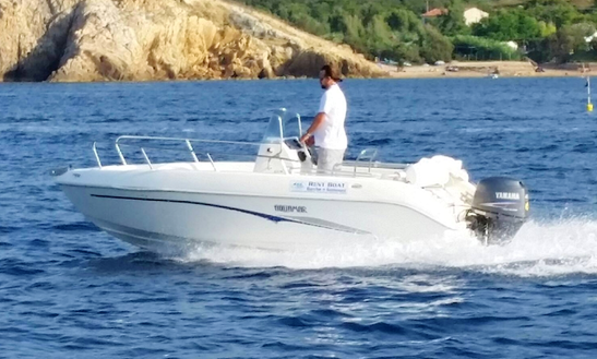 Rent 18' Aquamar Center Console In Marciana Marina, Italy