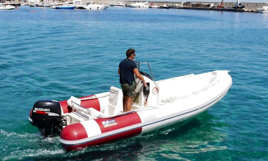 Rent 18' Knot Rigid Inflatable Boat In Marciana Marina, Italy