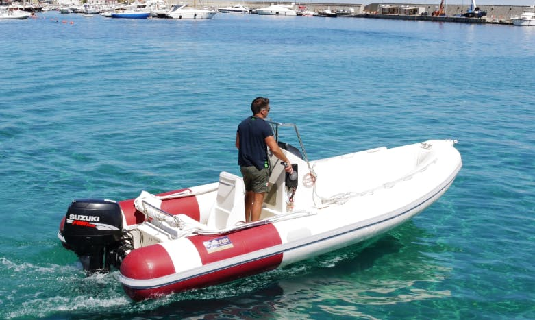 Rent 18' Knot Rigid Inflatable Boat in Marciana Marina, Italy