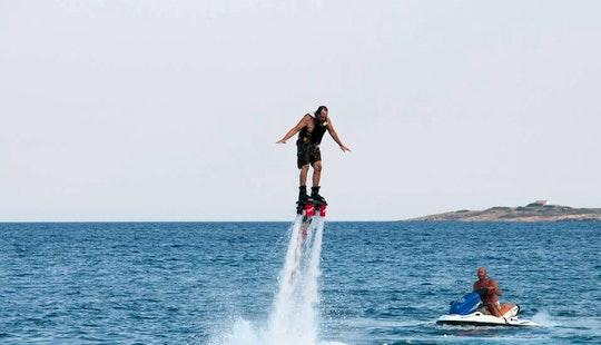 Enjoy Flyboarding In Nisi, Greece