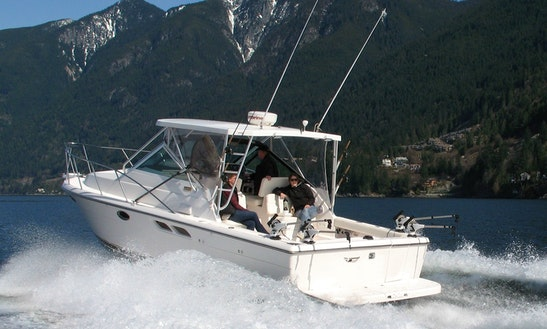 West Vancouver Fishing Charter On 29ft Tiara Motor Yacht With Captain Scott