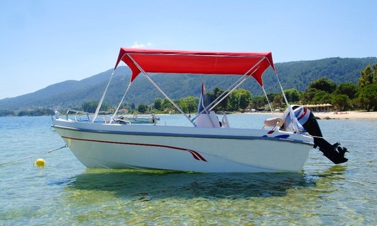 Open Alexander 440 Poweboat In Chalkidiki