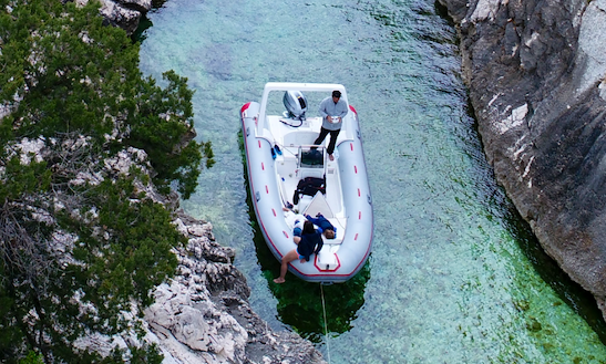 Rent Original 580 Rigid Inflatable Boat In Santa Maria Navarrese, Italy