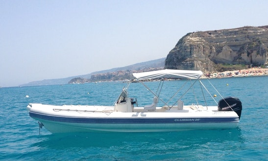 Charter 29' Joker Club Man Rigid Inflatable Boat In Tropea, Italy
