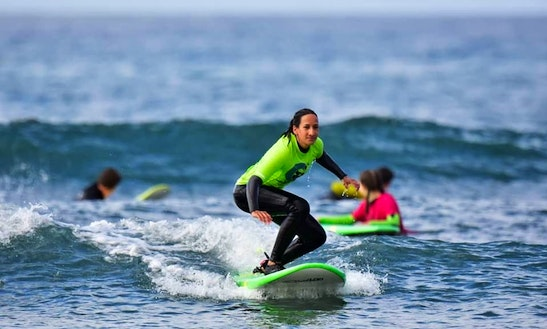 Surfing Lesson In Mogán, Spain